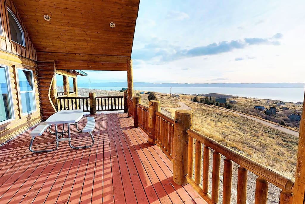 Best Views in Bear Lake with Huge Covered Deck