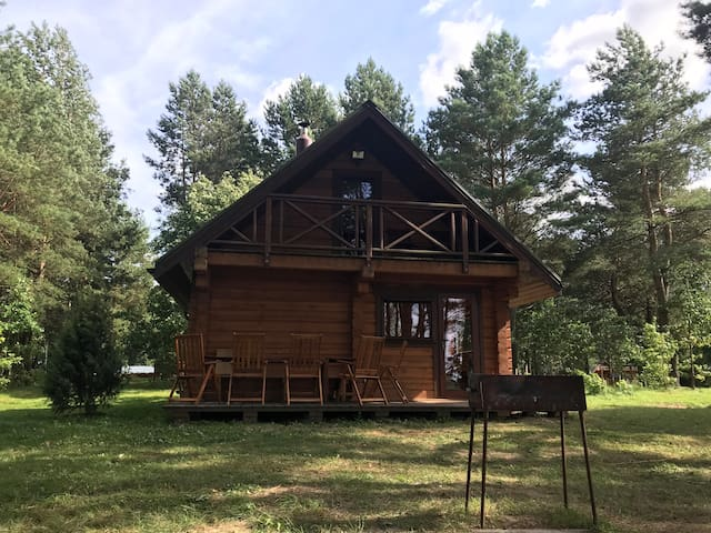"""Forest holiday"" - private lake cabin with sauna"