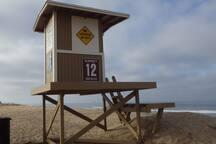 Lifeguard Tower 12 across the street