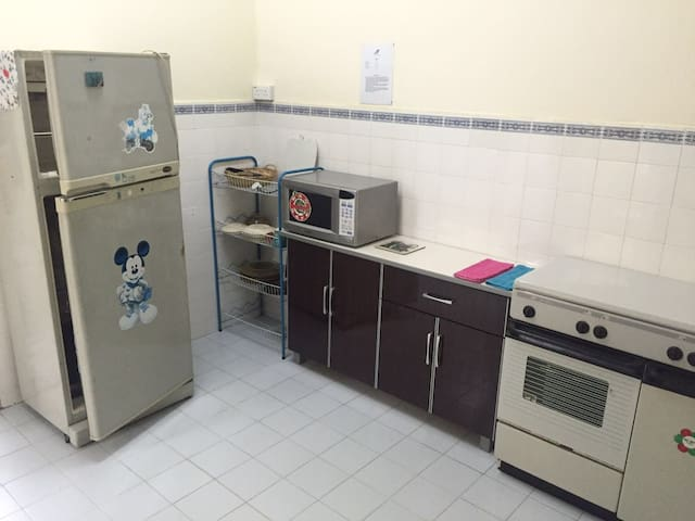 Kitchen area with cooking facilities