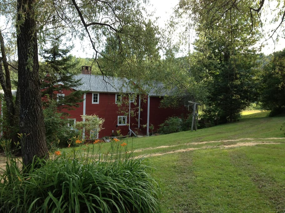 Gorgeous 20 acre backyard ready for hiking or x-c skiing.