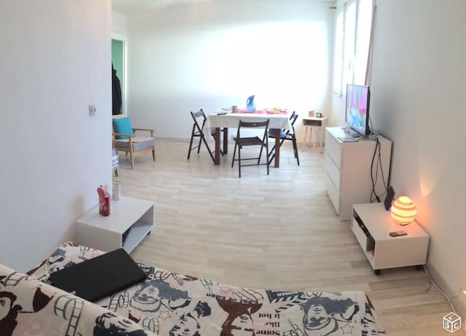 single room in a shared flat near the city center