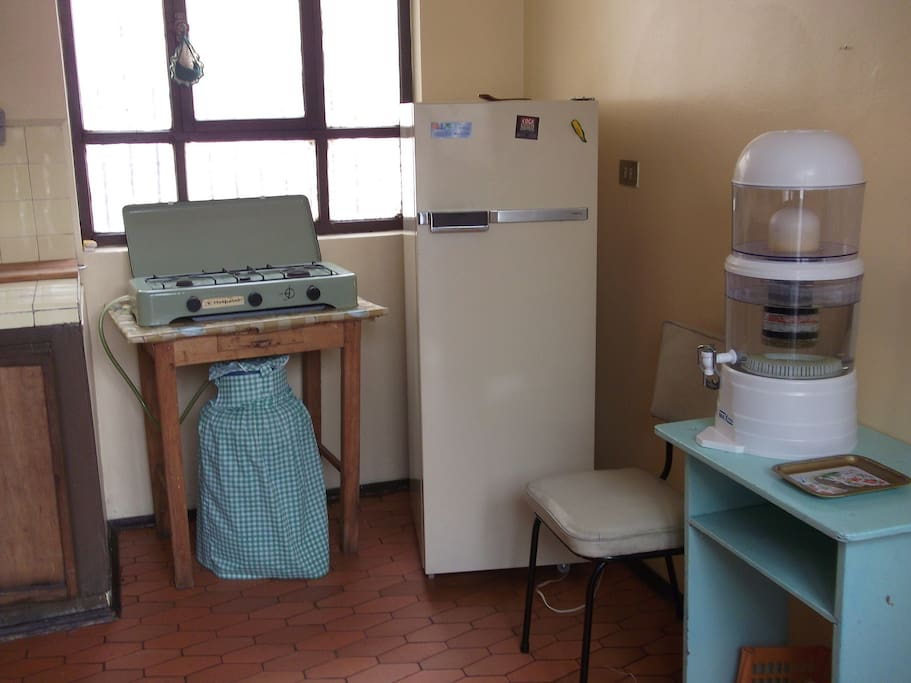 Fully equipped kitchen -- including water filter!