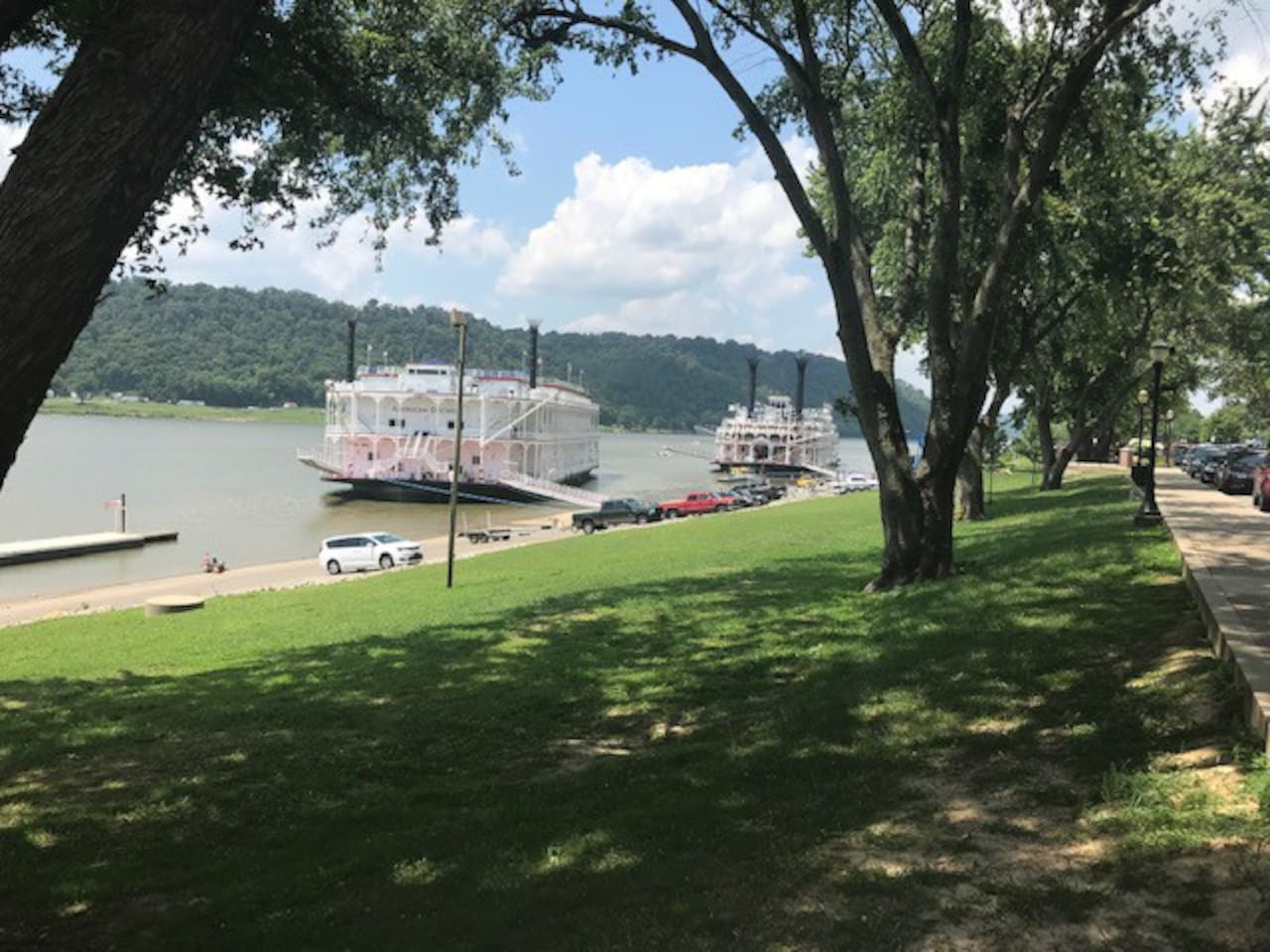River's Edge-Historic Hunger House....a block away on any given day...just another Madison Sunday! (7/28/19-American Queen and American Duchess dock for the afternoon)