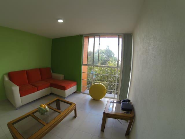 Habitación en departamento nuevo, zona oriente. - Ciudad de México - Penzion (B&B)