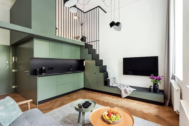 Telegrafas Lofts Centre of Kaunas by Houseys - Telegrafas Lofts - Green Loft