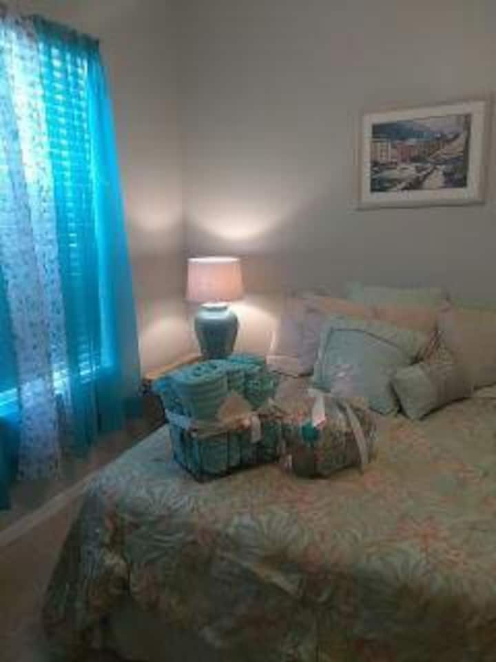 Queen Bedroom  Home with Pool