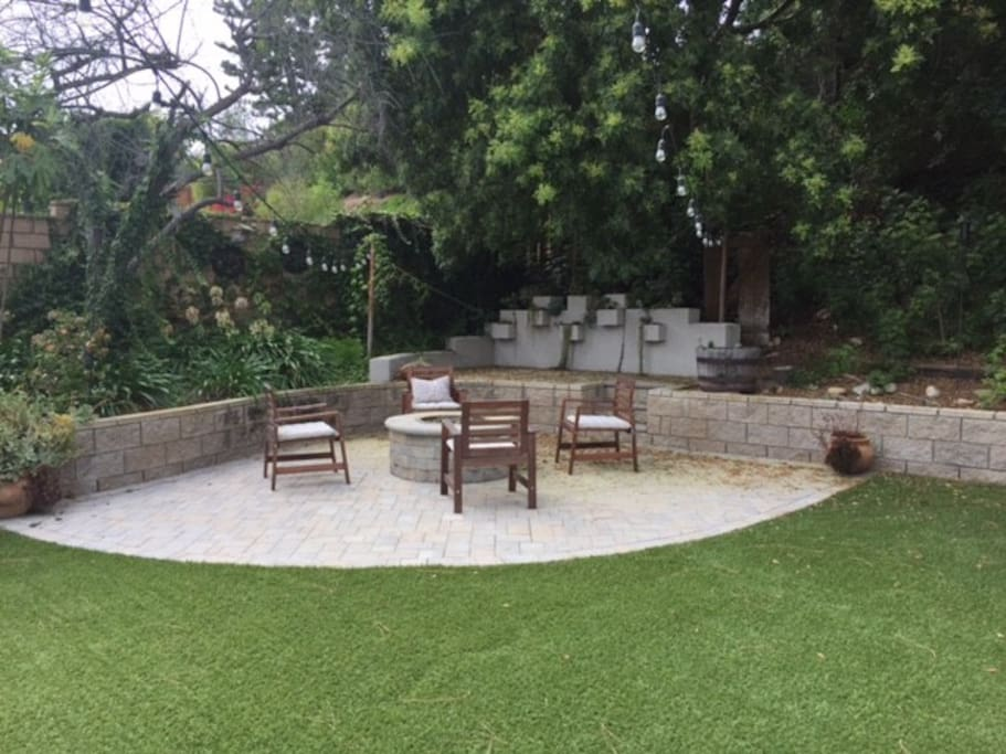 Private yard with succulent garden and fire pit. S'mores optional!