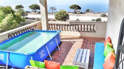 Large 3 room Terrace Sea ViewOran Belgaid
