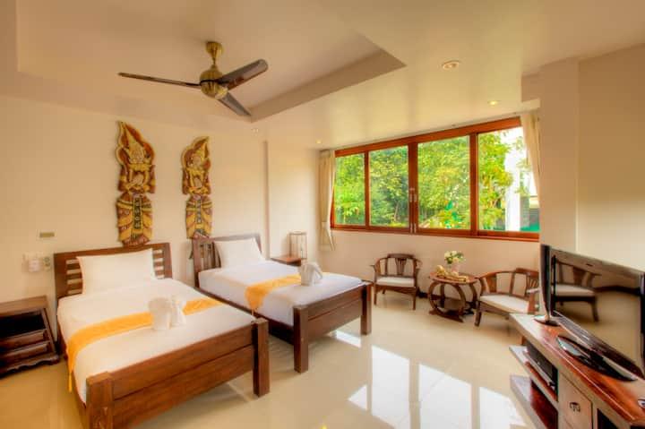 Garden View Twin Studio in Resort