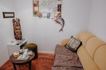 Living room - where you can meet new fellow travelers