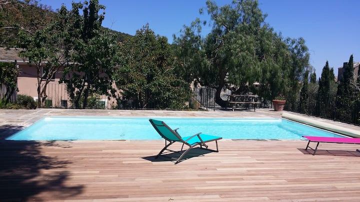 Villa avec piscine à Erbalunga (Cap Corse)