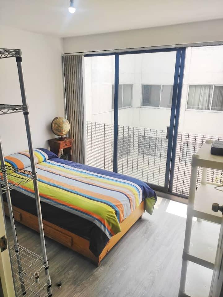 Céntrica&Cómoda Habitación/Buena Iluminación CDMX