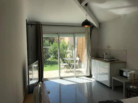 Garden side apartment