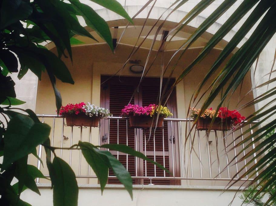 balcone camera da letto al primo piano