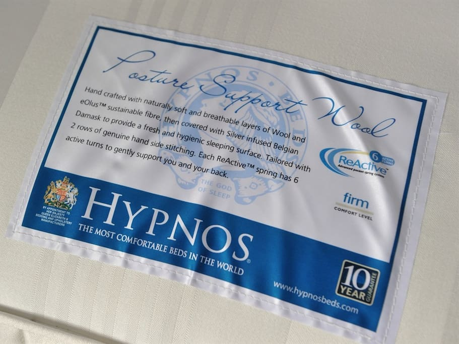 Super Kingsize mattress by Hypnos - The Most Comfortable Beds in the World.