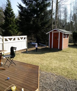 Bright 2BR rowhouse apt with SAUNA and backyard - Oulu - Apartamento