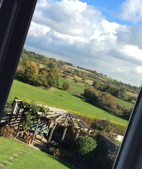 Lovely room with a view in a village location