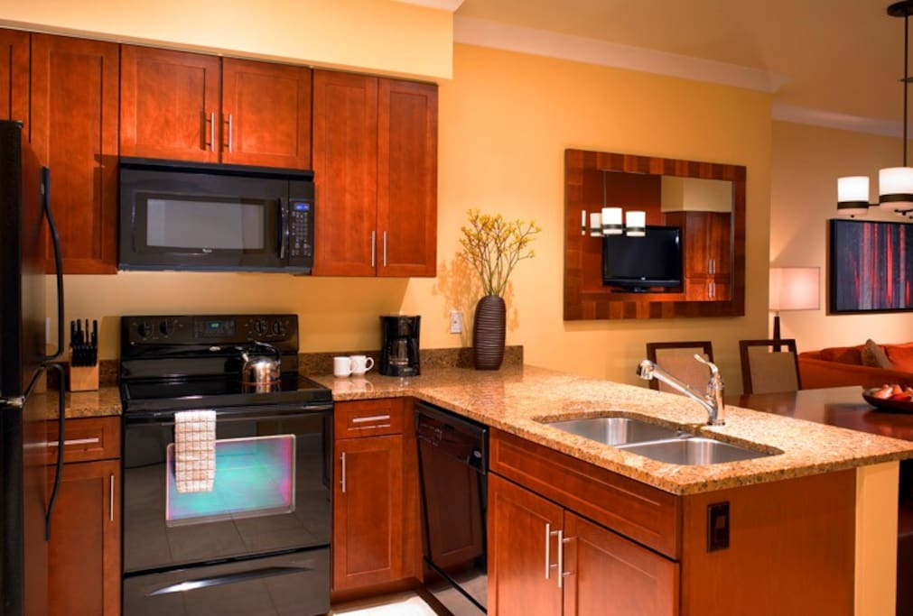 Photo of typical 2BR lockoff kitchen