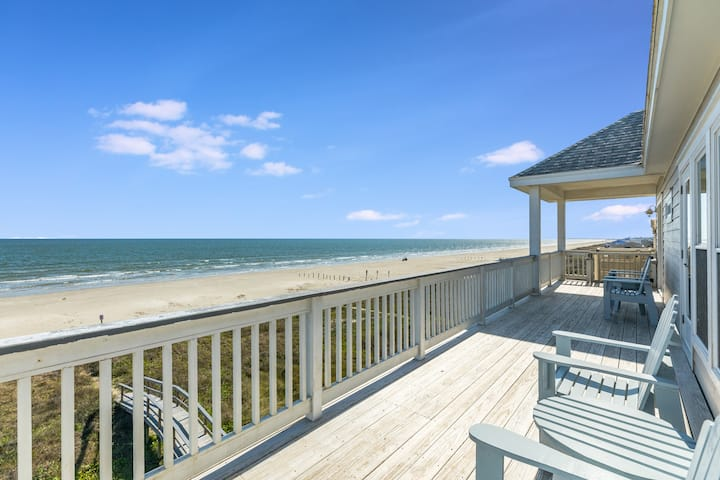 New Listing! Gulf-Front Oasis w/ Beach Boardwalk