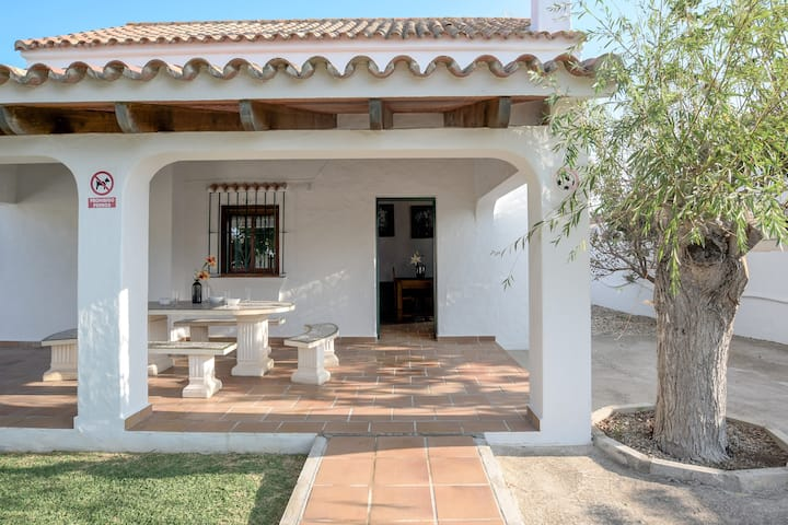 Home On the Beach with Spacious Terrace, Garden, Wi-Fi & Air Conditioning; Parking Available