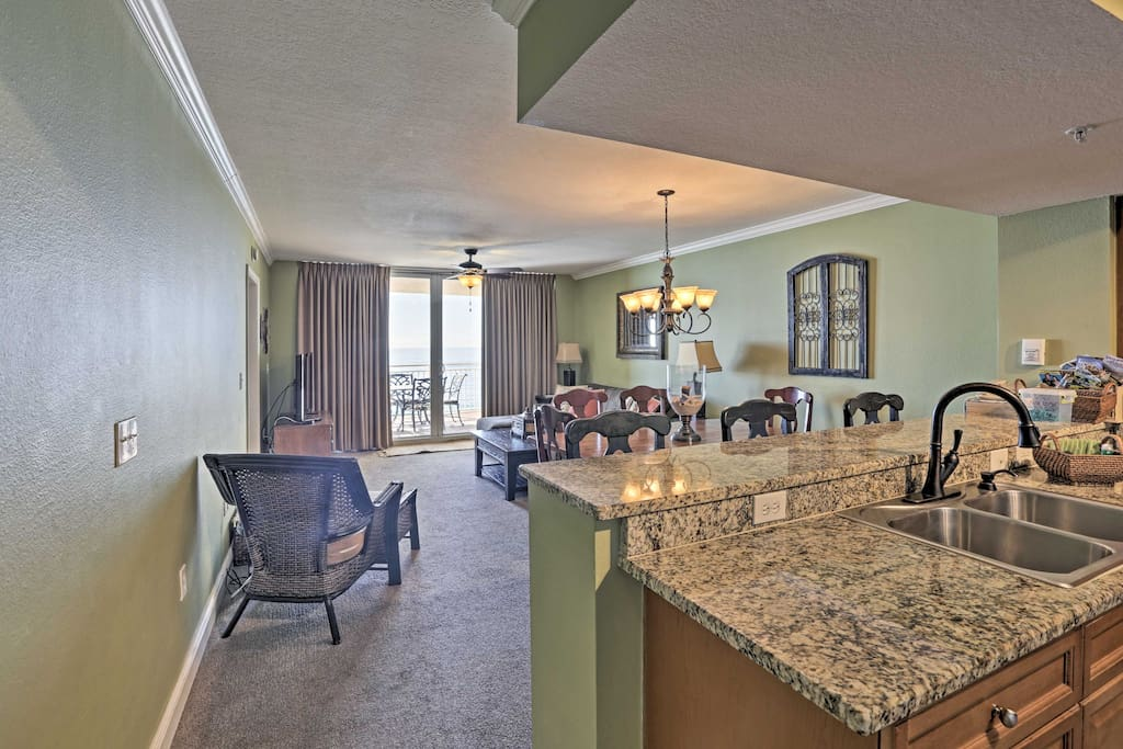 This condo offers 1,200 square feet and room for 8 guests!
