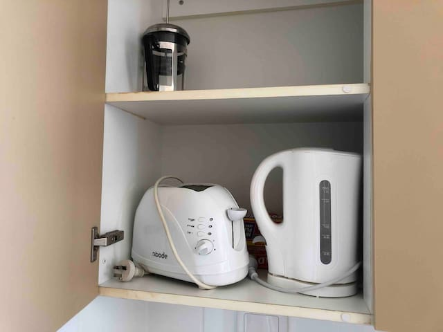 Toaster, kettle and coffee maker