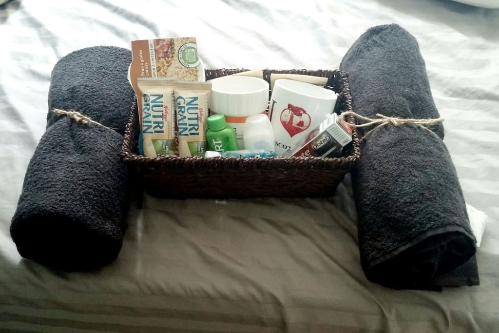 Guest 'welcome package'.