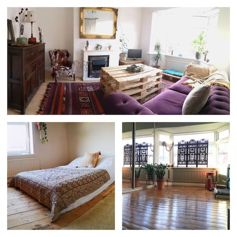 Double bed, bright, spacious house ctcc & hospital