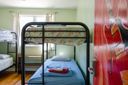 Coed dormitories have 4 beds in them and may be shared with other male and female guests. Bed assignment is first-come, first-served.