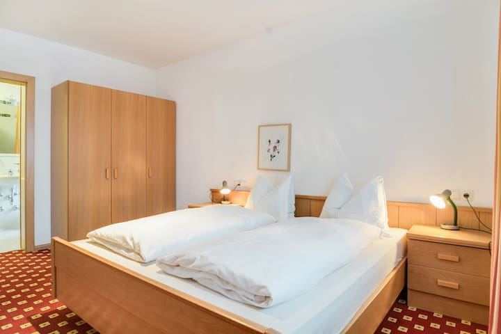 """Beautiful Holiday Apartment """"Feldhof Forest Weißhorn 107-2p"""" with Wi-Fi, Garden, Balcony & Wellness Area; Parking Available, Pets Allowed"""