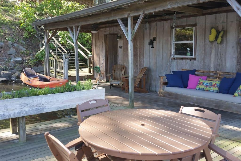 Boathouse w/ swing