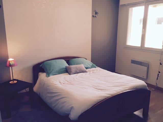Chambre + Sdb privative - au calme - Aubiat - Hus