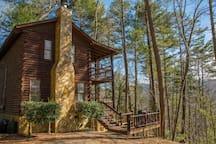 2 Story double-deck TRUE Log Home