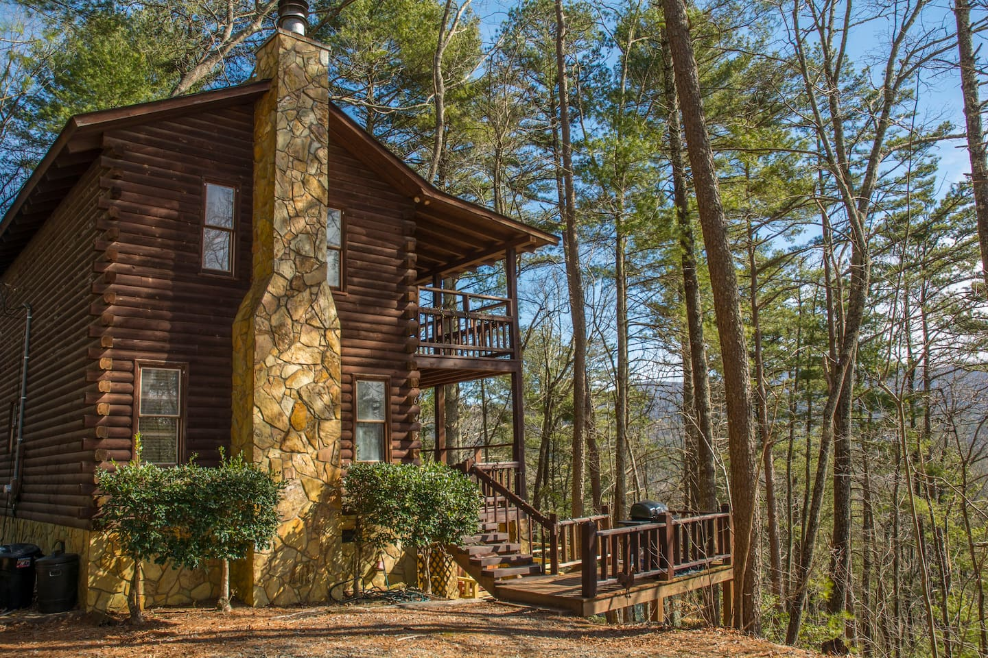 2 Story double-deck TRUE Log Home