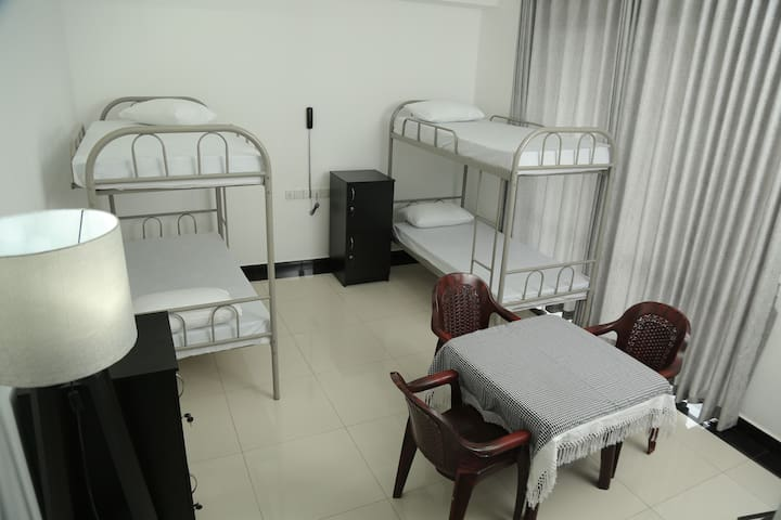 Two bunk bed apartment for four adults