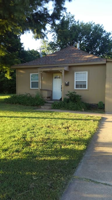 Simple on the outside, this house has a charming interior and was completely remodeled.