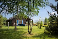 Wooden+cottage+in+Beskids