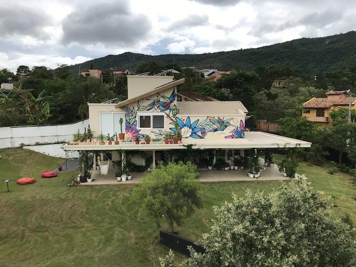 Chalé na montanha - Refúgio do Artista