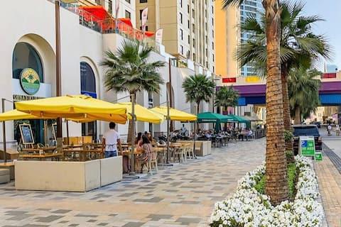 Jumeirah Beach Residence (JBR) cerca de la playa