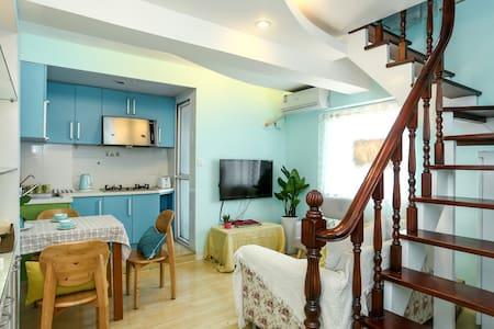 体育公园市中心,雅致复式loft一室一厅套房 - Nantong