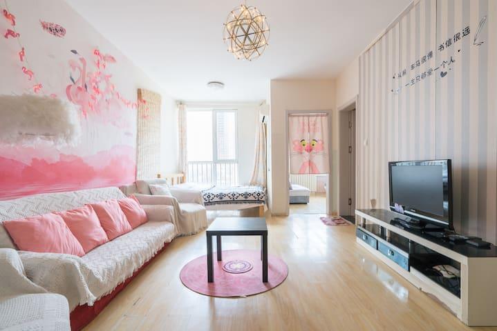 客厅(一个沙发 ,一个双人床)有空调,有餐桌。
