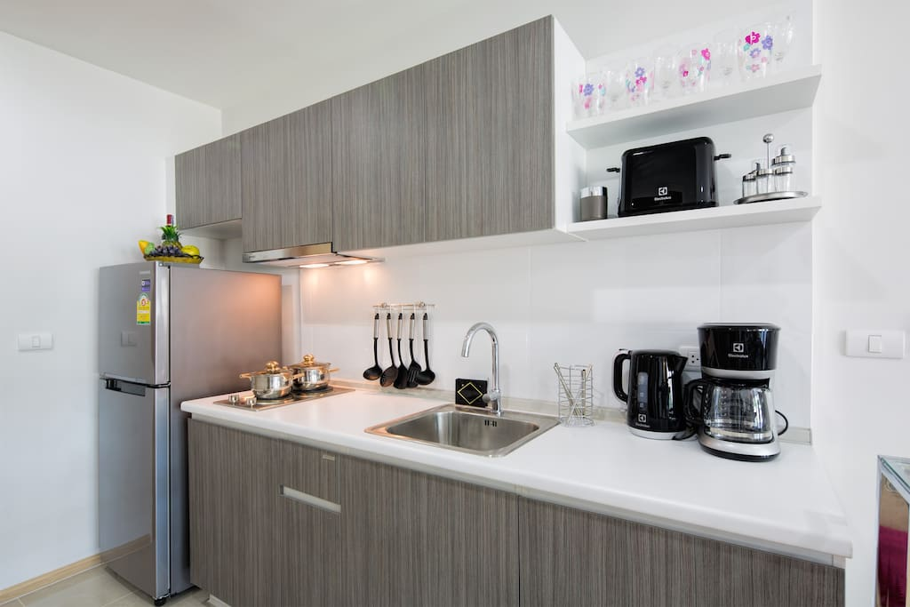 Fully equipped kitchen with everything you might need during your vacation!
