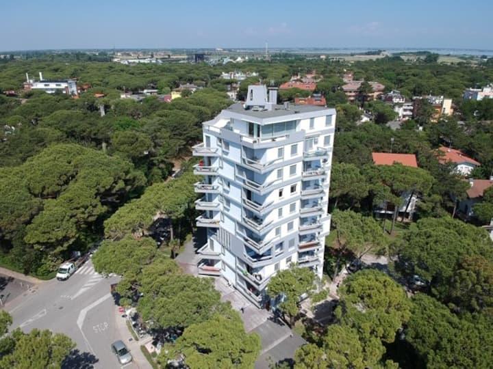 appartamento con splendida vista sulla pineta