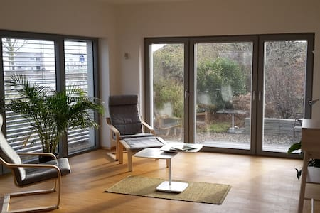 Bright loft in low-energy house. - Erlangen - Leilighet