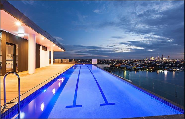 Near new apartment overlook Brisbane River - Hamilton - Apartament