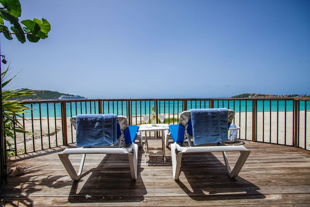 Relax in your private beach terrace