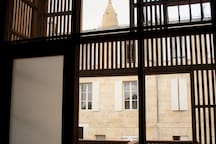 """Vue du Clocher """"Saint Marie de la Bastide"""" depuis le logement"""