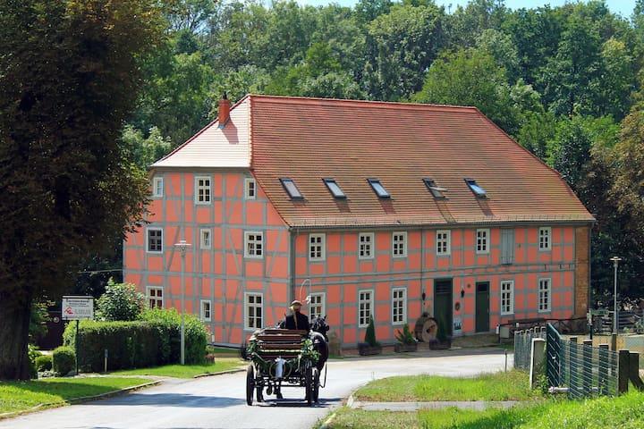 Ferienwohnung in Wassermühle - Nordwestuckermark - Appartement