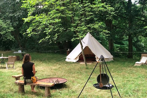 Glamping under fruittrees
